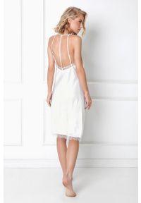 Biała piżama Aruelle gładkie
