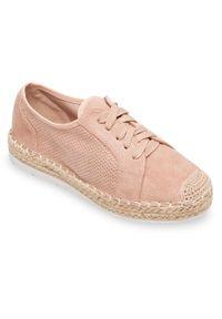 Różowe półbuty Ideal Shoes w kolorowe wzory, eleganckie