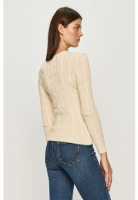 Kremowy sweter Polo Ralph Lauren na co dzień, długi, polo