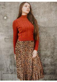 Brązowa spódnica Fanaberia.com elegancka, na jesień