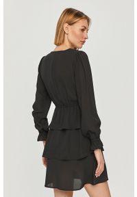 Czarna sukienka only z długim rękawem, casualowa