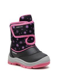 Czarne śniegowce Geox na spacer