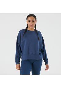 Sinsay - Krótka bluza - Niebieski. Kolor: niebieski. Długość: krótkie