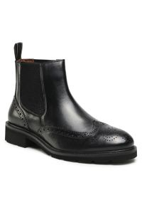 Czarne buty zimowe Salamander z cholewką