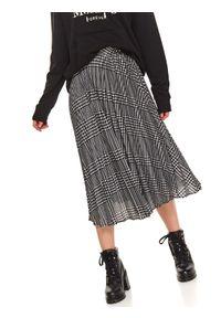 Czarna spódnica TOP SECRET w kolorowe wzory, casualowa