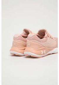 Różowe buty sportowe Under Armour z cholewką, do biegania, z okrągłym noskiem
