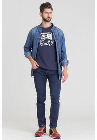 Niebieska koszula Trussardi Jeans na lato, na co dzień