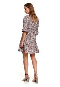 TOP SECRET - Sukienka fit and flare w nadruk paisley. Kolor: zielony. Materiał: materiał. Wzór: paisley, nadruk. Sezon: lato. Styl: wizytowy