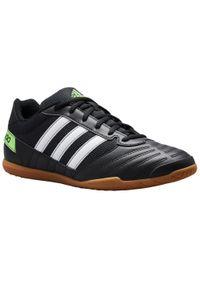 Buty halowe do piłki nożnej dla dorosłych Adidas Super Sala. Materiał: kauczuk, mesh, syntetyk. Szerokość cholewki: normalna. Wzór: gładki