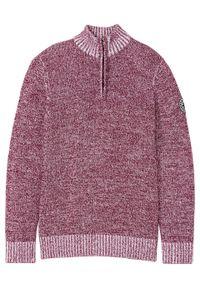 Fioletowy sweter bonprix melanż, ze stójką