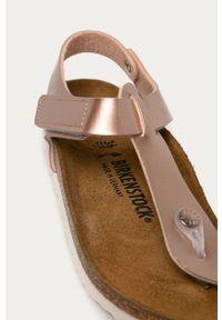 Różowe sandały Birkenstock na rzepy