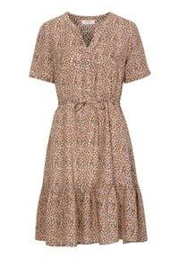 Cream Wzorzysta sukienka z wiskozy Julia rdzawy we wzory female brązowy/pomarańczowy/ze wzorem 42. Kolor: pomarańczowy, brązowy, wielokolorowy. Materiał: wiskoza