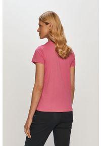 Różowa bluzka Polo Ralph Lauren na co dzień, gładkie