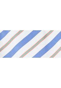 TOP SECRET - Asymetryczna rozszerzana spódnica w paski. Okazja: na co dzień. Materiał: tkanina. Wzór: paski. Sezon: lato, wiosna. Styl: elegancki, casual
