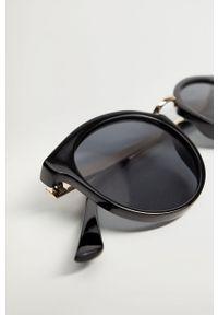 Czarne okulary przeciwsłoneczne mango okrągłe