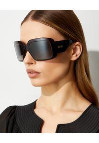 DIOR - Okulary przeciwsłoneczne DiorSoLight2. Kolor: brązowy. Wzór: aplikacja