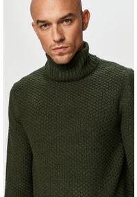Szary sweter Only & Sons z długim rękawem, długi, z golfem