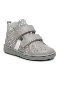 RenBut - Sneakersy RENBUT - 13-1429 Popiel Kropy. Kolor: szary. Materiał: skóra, zamsz. Szerokość cholewki: normalna. Styl: młodzieżowy