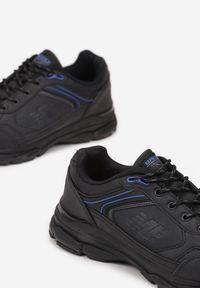 Born2be - Czarno-Niebieskie Buty Sportowe Iomite. Wysokość cholewki: przed kostkę. Nosek buta: okrągły. Kolor: czarny. Szerokość cholewki: normalna