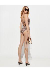 Camilla - CAMILLA - Jednoczęściowy strój kąpielowy. Kolor: brązowy. Materiał: nylon. Wzór: motyw zwierzęcy, aplikacja, nadruk