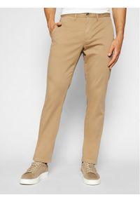 TOMMY HILFIGER - Tommy Hilfiger Spodnie materiałowe Denton MW0MW13286 Beżowy Straight Fit. Kolor: beżowy. Materiał: materiał
