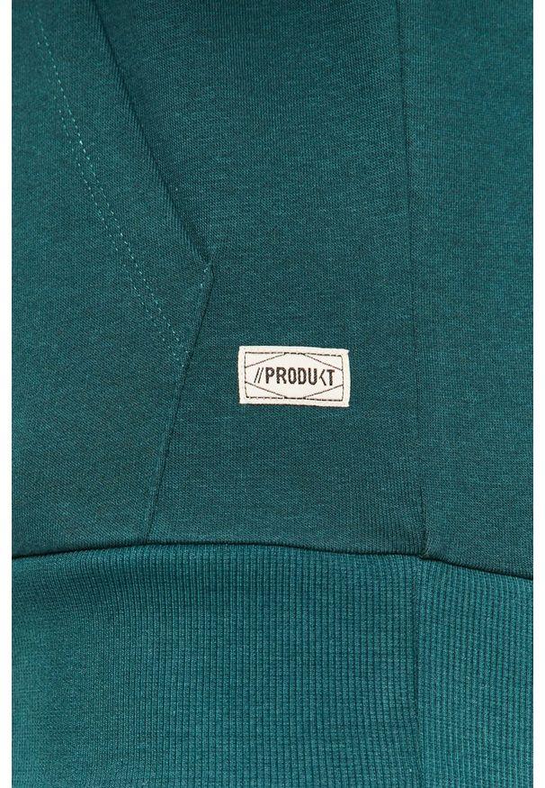 Zielona bluza nierozpinana PRODUKT by Jack & Jones z kapturem