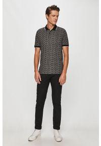 Czarna koszulka polo Calvin Klein polo, casualowa, krótka, na co dzień