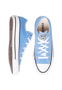 Niebieskie buty sportowe Converse z cholewką