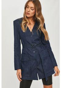 Niebieski płaszcz Miss Sixty bez kaptura, na co dzień, klasyczny