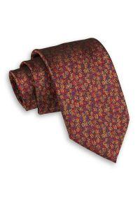 Kolorowy Męski Krawat -Chattier- 7,5cm, Klasyczny, Szeroki, Elegancki, Melanż. Kolor: wielokolorowy. Materiał: tkanina. Wzór: melanż, kolorowy. Styl: klasyczny, elegancki