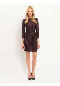 TOP SECRET - Sukienka damska gładka, kolorowa. Okazja: na imprezę. Kolor: fioletowy. Materiał: tkanina. Wzór: gładki, kolorowy. Sezon: jesień, zima #6