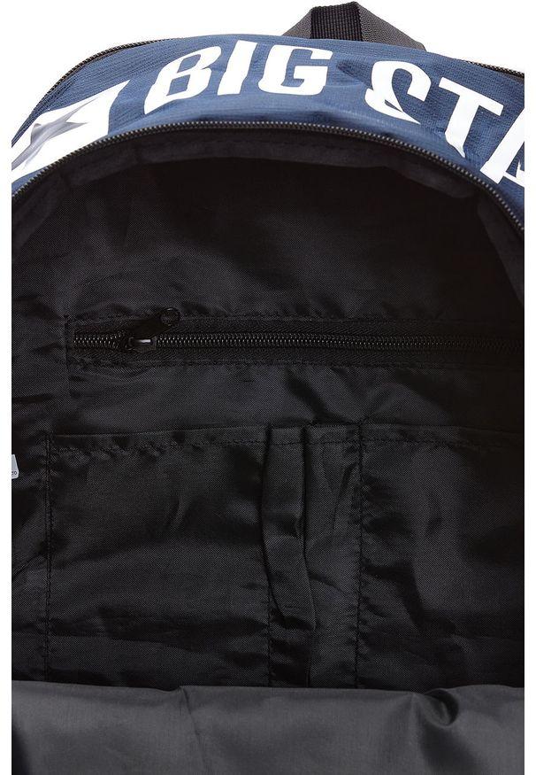 Niebieski plecak Big Star Accessories z nadrukiem