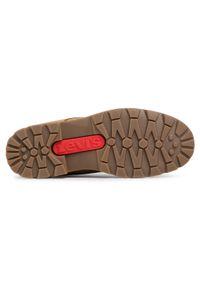 Brązowe buty zimowe Levi's® z cholewką, na spacer