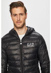 Czarna kurtka EA7 Emporio Armani z kapturem