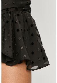 Czarna sukienka Miss Sixty dopasowana, klasyczna, z długim rękawem, mini