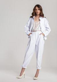 Renee - Białe Spodnie Alapea. Kolor: biały
