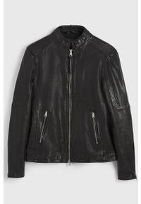 Czarna kurtka AllSaints casualowa, na co dzień, bez kaptura