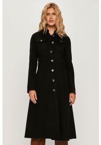 Czarny płaszcz Sportmax Code bez kaptura