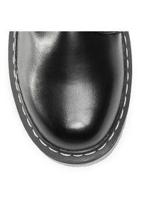 Czarne buty trekkingowe Dockers klasyczne, z cholewką