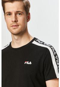 Czarny t-shirt Fila z aplikacjami, na co dzień, casualowy