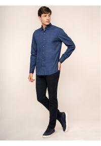 Pierre Cardin Spodnie materiałowe 30035/000/4767 Granatowy Antibes Fit. Kolor: niebieski. Materiał: materiał