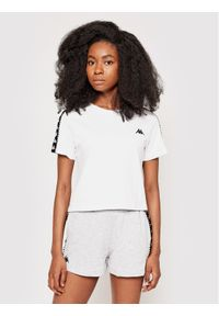 Kappa T-Shirt Inula 309090 Biały Regular Fit. Kolor: biały