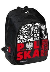 Starpak Plecak szkolny Polska czarny (395701). Kolor: czarny