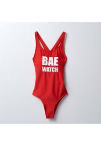 Cropp - Jednoczęściowy strój kąpielowy - Czerwony. Kolor: czerwony