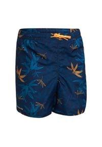 OLAIAN - Spodenki Surfing Bs 100 Bambou Dla Dzieci. Kolor: niebieski. Materiał: poliester, materiał. Długość: krótkie