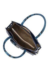 Niebieski kuferek Wittchen w kolorowe wzory