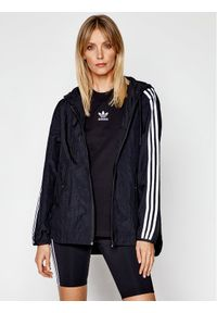 Adidas - adidas Wiatrówka Windbreaker GN2780 Czarny Loose Fit. Kolor: czarny