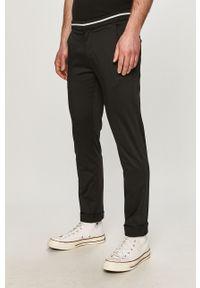 Czarne spodnie Karl Lagerfeld klasyczne, gładkie