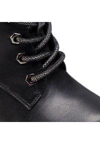 Czarne botki Refresh na średnim obcasie, z cholewką, na obcasie