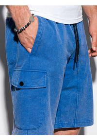 Niebieskie szorty Ombre Clothing krótkie, z aplikacjami